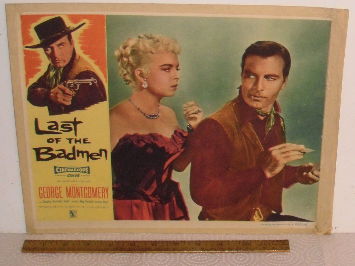 Last of the badmen old lobby movie card affiche for Entree originale