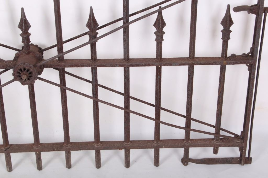 ornate wrought iron gate trapped image 19th century ornate wrought iron gate