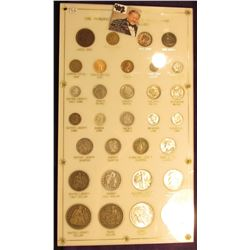 "Large Capital Plastic frame ""One Hundred Years of United States Coins Half Cents Dollars 1850-1950."