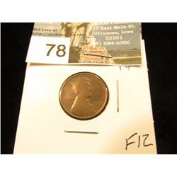 1910 S Lincoln Cent F-12