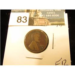 1913 S Lincoln Cent F-12