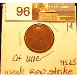 1920 D Lincoln Cent MS-65