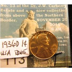1936 D Lincoln Cent RD-65
