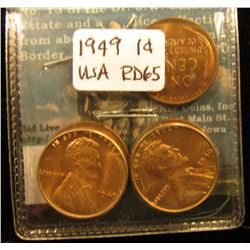 (5) 1949 Lincoln Cent MS-65