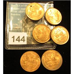 (6) 1956 P Lincoln Cent RD-65