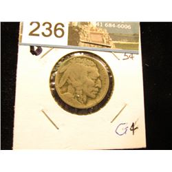 1915 D Buffalo Nickel Weak date G-4