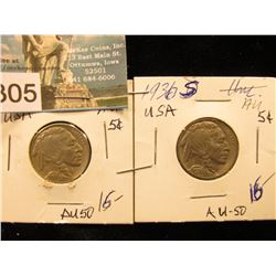 (2) 1936 S Buffalo Nickel AU-50