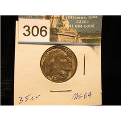 1937 S Buffalo Nickel MS 64