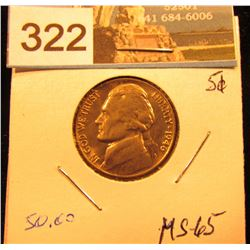 1946 Jefferson Nickel. MS-65