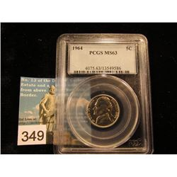 1964 P Jefferson Nickel. PCGS MS-63