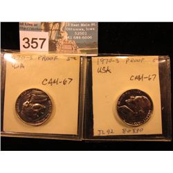 (2) 1970 S Jefferson Nickel. CAM-67