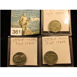 (3) 1971 P Jefferson Nickel. MS-65 5 FS