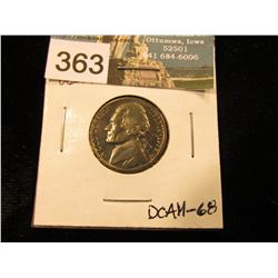 1973 S Jefferson Nickel. DCAM-68