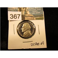 1977 S Jefferson Nickel. DCAM-69