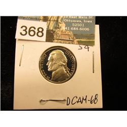 1984 S Jefferson Nickel. DCAM-68