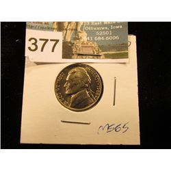 1988 D Jefferson Nickel. FS-65