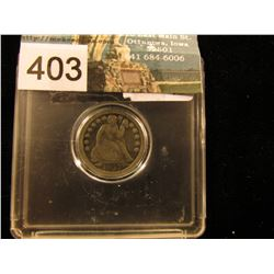 1853 O    Liberty Seated Dime Arrows    VG-8