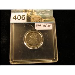 1876 Liberty Seated Dime VF-20
