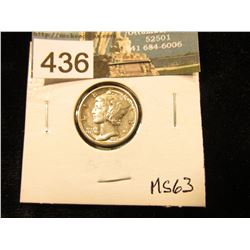 1926 D Mercury Dime MS-63