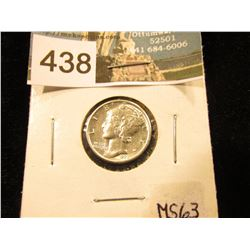 1928 P Mercury Dime MS-63