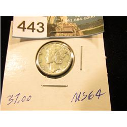 1935 S Mercury Dime MS-64