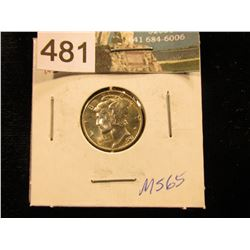 1941 P Mercury Dime MS-65