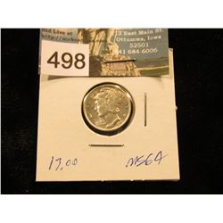 1943 P Mercury Dime MS-64