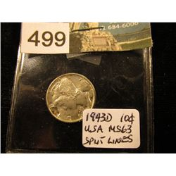 1943 D Mercury Dime MS-63