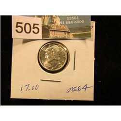 1943 D Mercury Dime MS-64