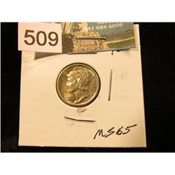 1943 S Mercury Dime MS-65