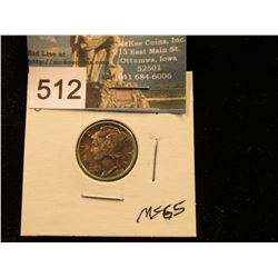 1943 S Mercury Dime Nicely toned MS-65