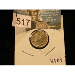1944 D Mercury Dime MS-63