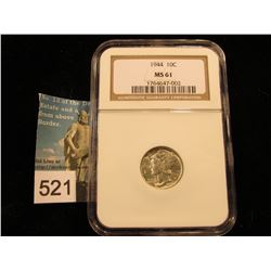 1944 P Mercury Dime NGC MS-61