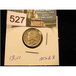 1945 D Mercury Dime MS-63