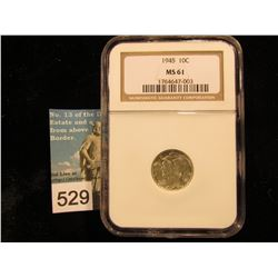 1945 P Mercury Dime NGC MS-61