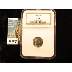 1964 P Roosevelt Dime. NGC MS 65 Downgraded from MS-70