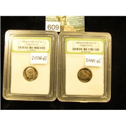 (2) 1982 S Roosevelt Dime Downgraded from DCAM-70. INB DCAM-65