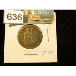 1856 P    Arrows at date removed Liberty Seated Quarter    VF-20
