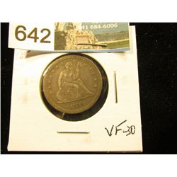 1859 P Liberty Seated Quarter VF-30