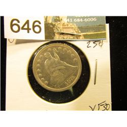 1876 P Liberty Seated Quarter VF-30