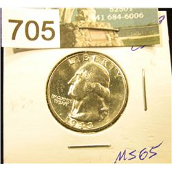 1943 D Washington Quarter MS-65
