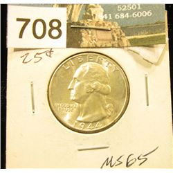 1944 D Washington Quarter MS-65