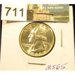 1944 S Washington Quarter MS-65