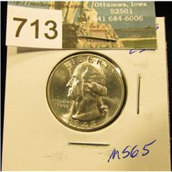 1945 S Washington Quarter MS-65