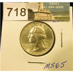 1945 P Washington Quarter MS-65