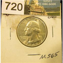 1945 D Washington Quarter MS-65