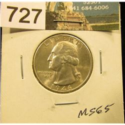 1946 D Washington Quarter MS-65