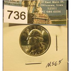 1947 D Washington Quarter MS-65