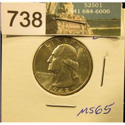 1948 P Washington Quarter MS-65