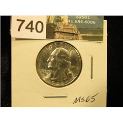 1948 S Washington Quarter MS-65
